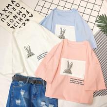短袖t恤女夏装2018新款韩版ulzzang白色体恤宽松百搭学生半袖上衣