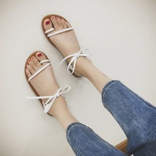 Summer explosion style toe flat Roman female sandals