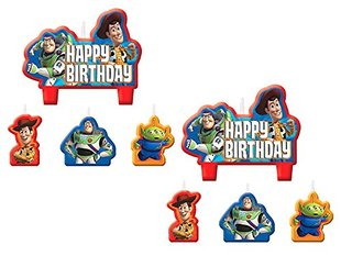 2 Set of 4 Amscan Toy Story Birthday Candles bundled by Mave