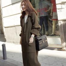 慵懒风长袖 加厚2018冬季新款 韩版 宽松毛衣外套 针织衫 开衫 女中长款