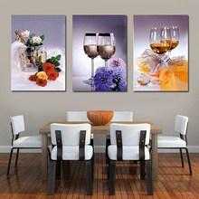 卧室清新自然风欧式酒杯客厅 餐厅十字绣三联画2019十字绣线绣新款