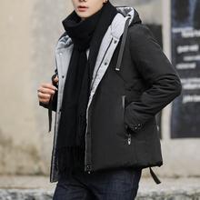 男士棉衣羽绒棉外套冬季男加厚保暖新款棉袄韩版修身连帽短款男装