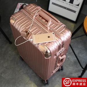 拉杆箱万向轮行李箱铝框旅行箱女男学生密码箱潮箱包20寸24寸29寸