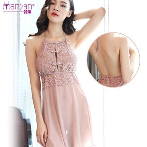 性感情趣内衣复古刺绣吊带裙情趣睡衣透视装制服情趣激情套装女骚