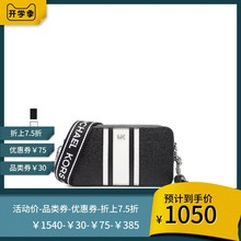 Michael Kors/MK 19 Spring and Summer Black and White Logo Double Zipper Camera Bag Single Shoulder Bag Small Square Bag