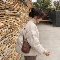 13良品冬季韩版宽松小个子短款棉服女2018新款棉衣外套女装面包服