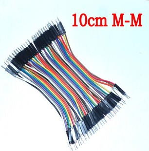 400pcs 10cm 2.54mm 1pin 1p-1p male to male jumper wire Dupon