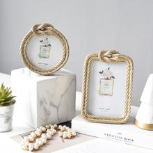 饰品6寸相框摆台 轻奢简欧风创意样板房间卧室欧式家居婚庆个性