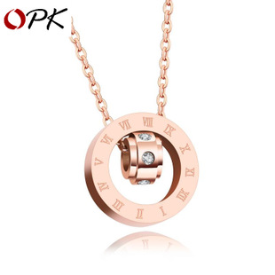 Korean version of sweet jewelry Roman digital ring pendant