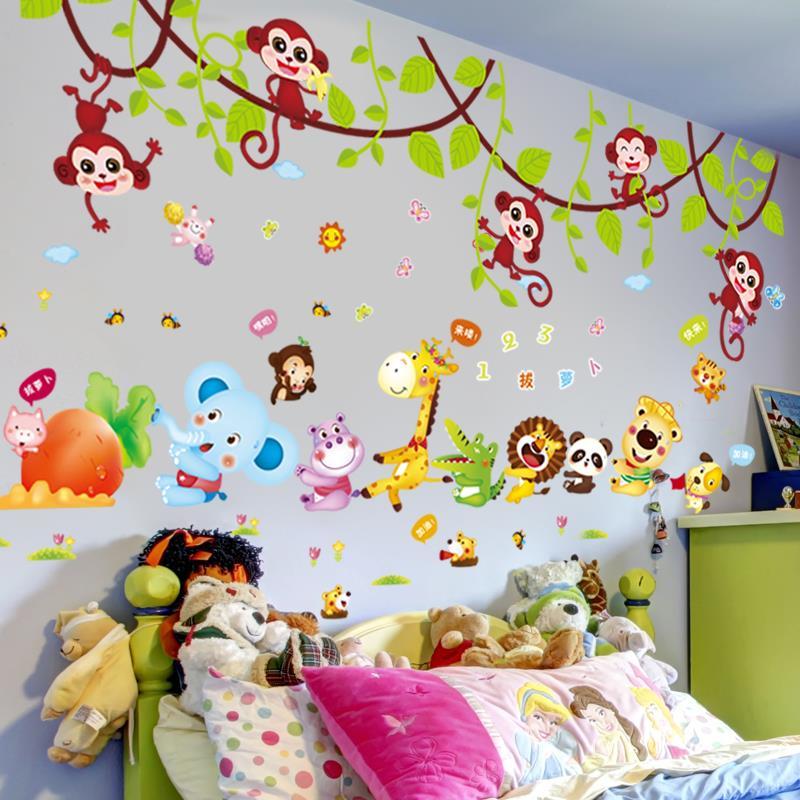 卡通厕所主题材料外墙秋天幼儿园大班教室墙面布置装饰楼道文化室
