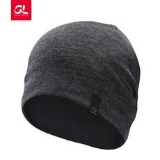 帽子 燃烧装备GEARLAB 美丽奴羊毛帽爱灰色两面戴男女 跑步运动帽