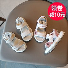 Summer 2019 New Girls'Sandals Student Korean version Girls' and Boys'Shoes Children's Bears' and Children's Princess's Sandals