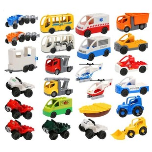 City Traffic Blocks Toys Ambulance Police Car Boat Raft Heli