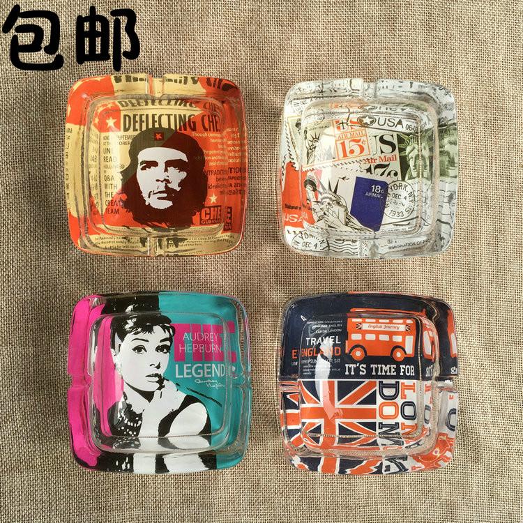 水晶烟灰缸 时尚创意个性家居礼品 大码定制精品欧式客厅烟灰缸