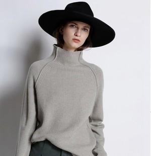 限时抢购【贝嫂同款】羊绒衫100%贴身穿加厚套头毛衣慵懒风宽
