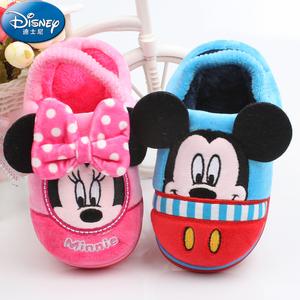 迪士尼儿童棉拖鞋秋冬季宝宝拖鞋男童女童婴儿小孩室内防滑居家鞋儿童棉拖鞋