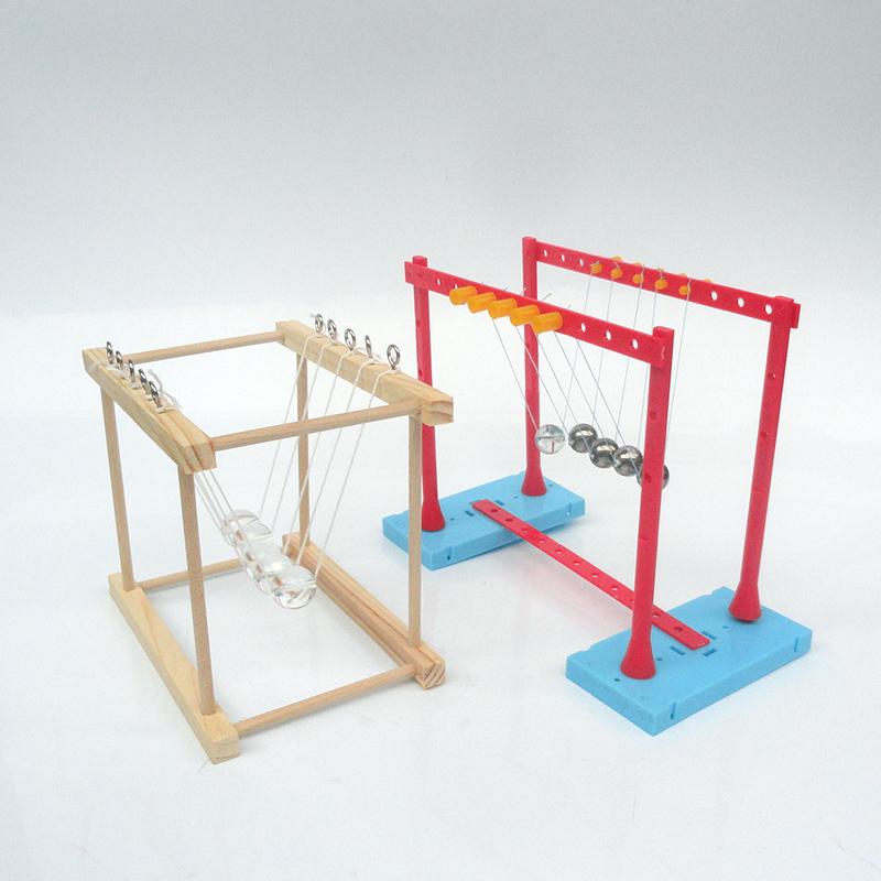 牛顿摆小学六年级手工制作拼装创意diy五球碰撞少儿科技益智玩具
