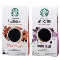 美国星巴克VIA哥伦比亚免煮咖啡26.4g+意大利咖啡26.4g 多省包邮