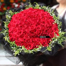 圣诞节99红玫瑰临沂鲜花同城花店送河东罗庄南坊沂南沂水平邑用花
