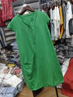 纯色棉麻连衣裙 夏季新款无袖百搭透气吸汗中长款亚麻裙子0.26