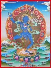 精美殊胜结缘佛菩萨画像密宗护法五行瑜伽母佛像 相纸双面塑封