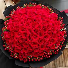 99朵红玫瑰花束生日武汉鲜花速递全国花店送深圳北京上海广州同城