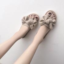 女夏外穿时尚 平底柏俅钤宿社会女鞋 网红凉拖女2018新款 chic拖鞋
