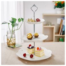 欧式陶瓷创意水果盘子篮客厅创意蛋糕架下午茶点心盘现代生日礼品