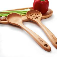睿森实木火锅汤勺 长柄烹饪汤勺  实木木勺长柄大汤勺大码漏勺