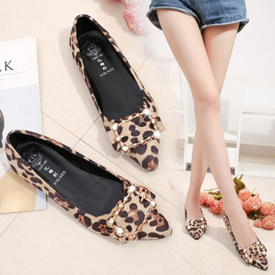 Korean women's shoes, casual shallow mouth flat shoes