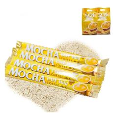 韩国原装进口速溶咖啡 休闲零食  黄色摩卡咖啡12g/袋三合一