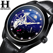 Helen Watch Men's Machinery Watch Fully Automatic Steel Belt Hollow Night Light Men's Waterproof Sun-Moon Star Watch