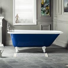 南海卫浴1.2/1.3/1.5/1.6米独立式铸铁浴缸蓝色高端定制贵妃浴缸