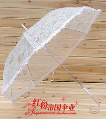 透明伞 蕾丝透明伞 雨伞 拱形伞 女士雨伞 可爱公主伞 外贸日单伞