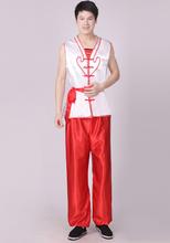 秧歌打鼓服舞龙舞狮 演出服装 陕北腰鼓民族舞蹈服饰男装 新款 男款