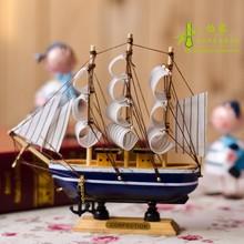 饰品手工艺品木制帆船模型摆件一帆风顺摆设 地中海风格 创意家居装