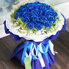 蓝色妖姬玫瑰花束南京鲜花速递苏州无锡常州镇江南通徐州同城送花