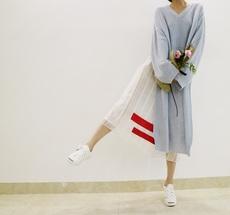 BBmommy韩国原创代购气质优雅百变风格打底裙