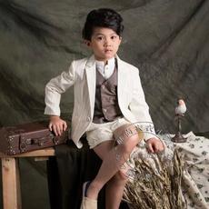 男童西装4-6 10-12岁衬衣马甲外套短裤套装影楼拍照儿童摄影福斯