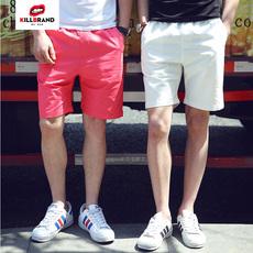 夏季韩版男士宽松休闲裤短裤青年纯棉沙滩裤五分裤大码中裤马裤潮