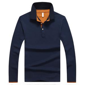 秋季polo衫男士长袖T恤青年宽松保罗体恤翻领纯色韩版修身上衣服长袖polo衫