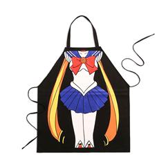【美少女战士】水冰月创意围裙包邮 无袖挂脖式纯棉防水厨房围裙
