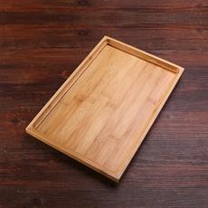 茶具竹子茶盘便携竹制家用简约托盘长方形木质小号大号木制配件