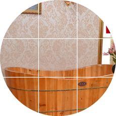 木之润 木桶浴桶洗澡桶成人浴盆沐浴桶双人泡澡木桶浴缸加厚3.5cm