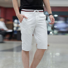 男士短裤夏季五分中裤青年宽松休闲沙滩裤 男夏天5分运动裤子薄款