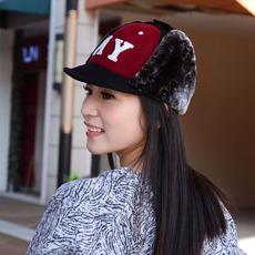 2016年秋冬新款毛呢帽 男女士NY保暖加厚户外东北雷锋帽子