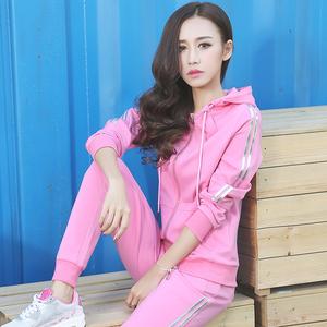 运动套装女春秋两件套2017新款女装春装韩版潮学生时尚休闲运动服运动套装