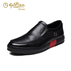 Goldlion/金利来2016秋冬新款头层牛皮商务休闲男鞋柔软套脚皮鞋