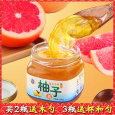 韩国风味蜂蜜柚子茶 果味茶 蜜炼水果酱鲜果汁 220g小包装冲饮品