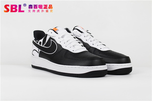 NIKE AIR FORCE 1 '07 LV8男子经典黑白休闲板鞋823511-011